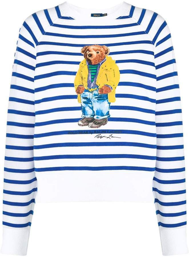 striped teddy bear sweatshirt