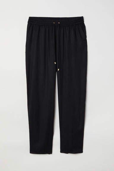H&M+ Pull-on Pants - Black