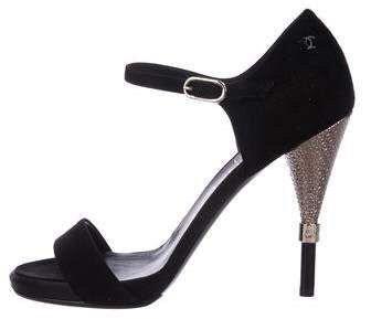 Chanel Suede Sandals Shoes