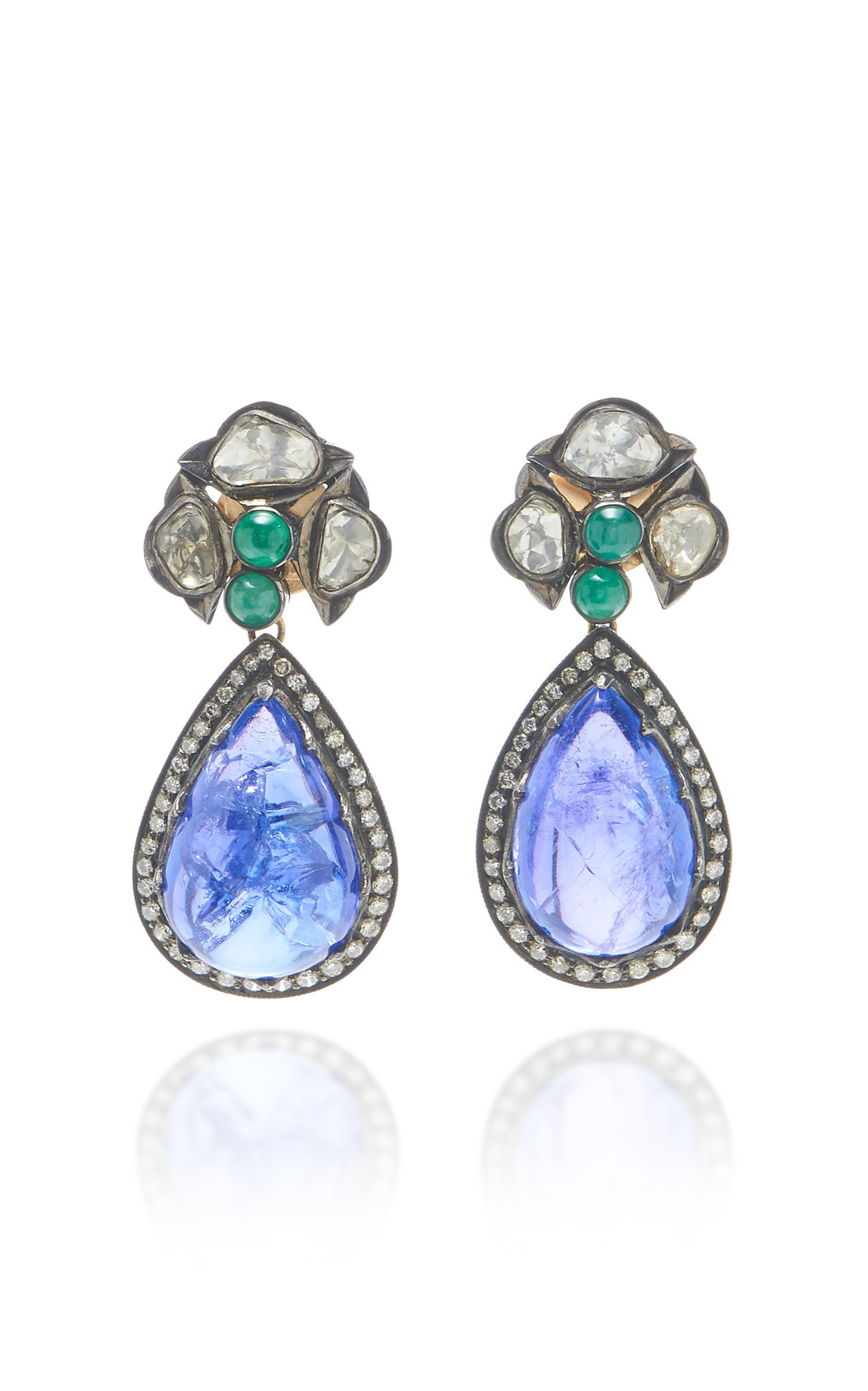 Amrapali Multi Stone Blue Drop Earrings