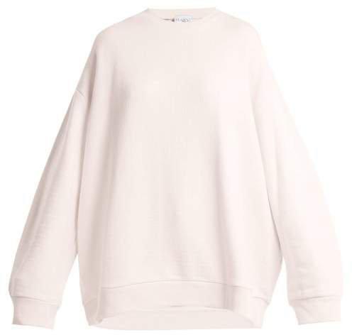 Oversized Cotton Sweatshirt - Womens - Light Pink