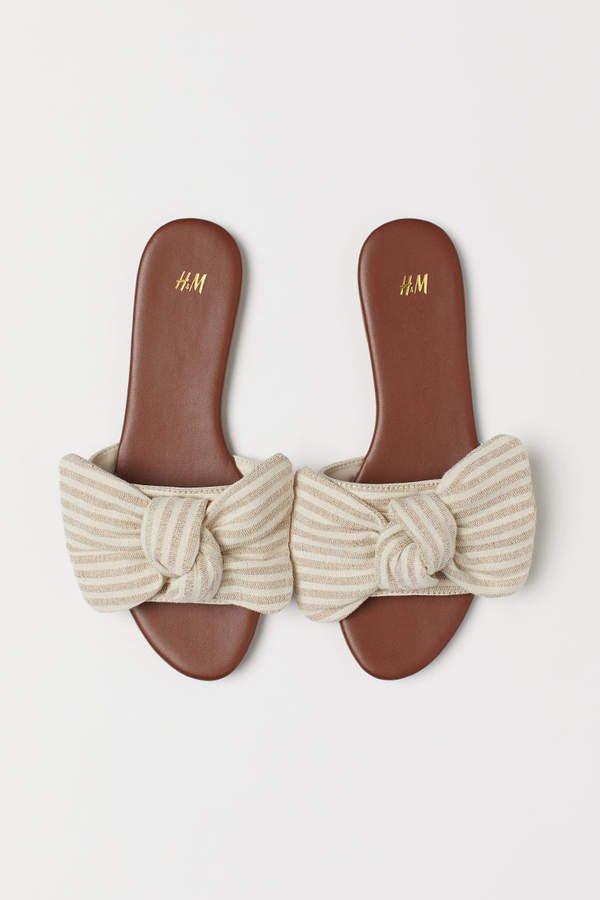 Sandals with Bow - Orange