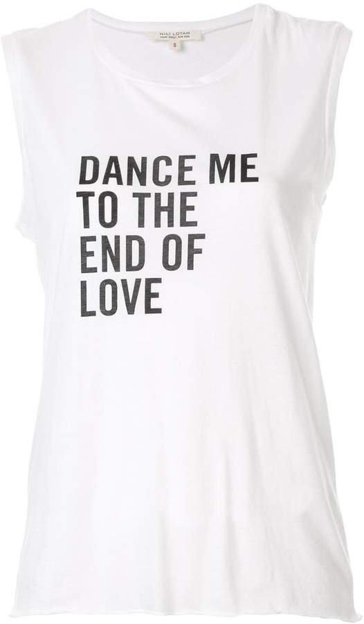 Dance print tank top