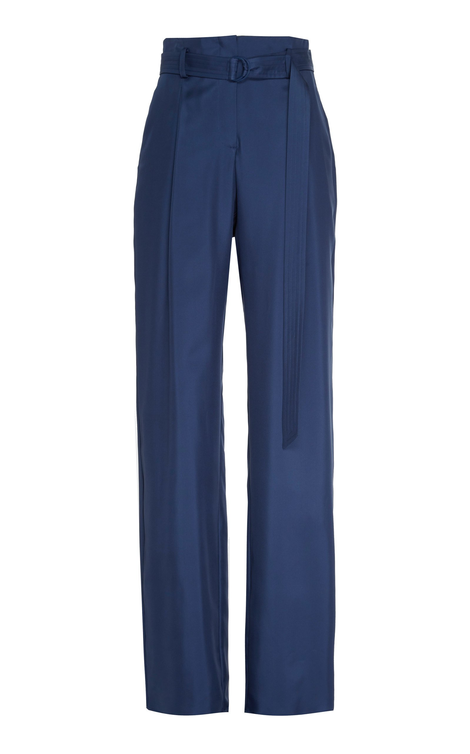 Sally LaPointe Silky Twill High Waisted Belted Pant