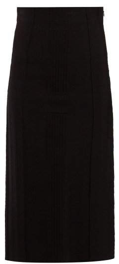 Panelled Pencil Skirt - Womens - Black