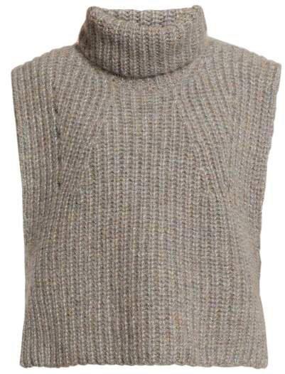 Megan Sleeveless Roll Neck Top - Womens - Grey