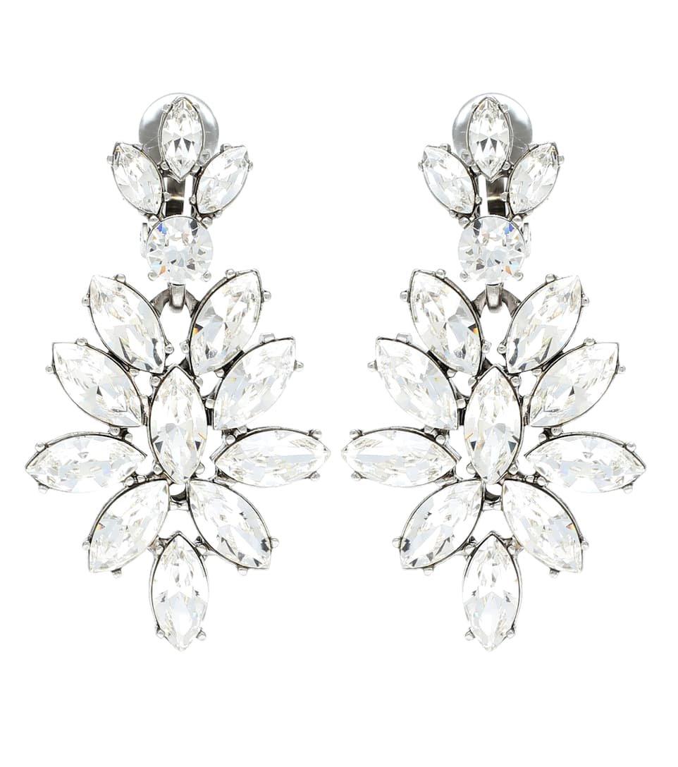 Crystal-Embellished Earrings | Oscar de la Renta - mytheresa.com