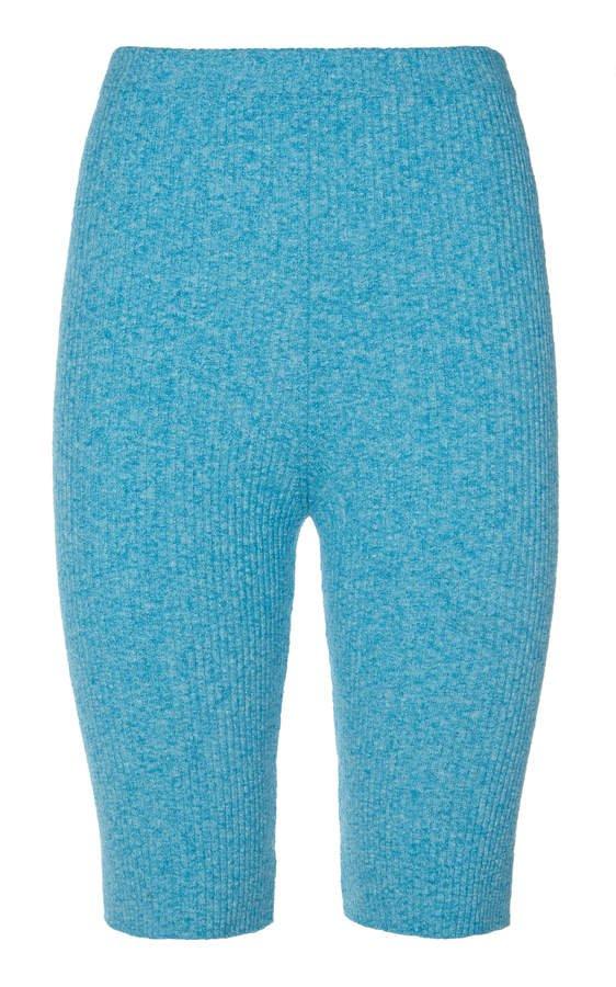 Alanui Ribbed-Knit Biker Shorts Size: S