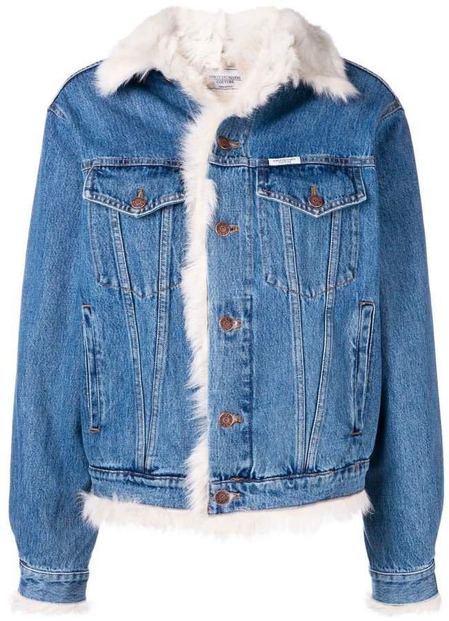 Forte Dei Marmi shearling-lined denim jacket