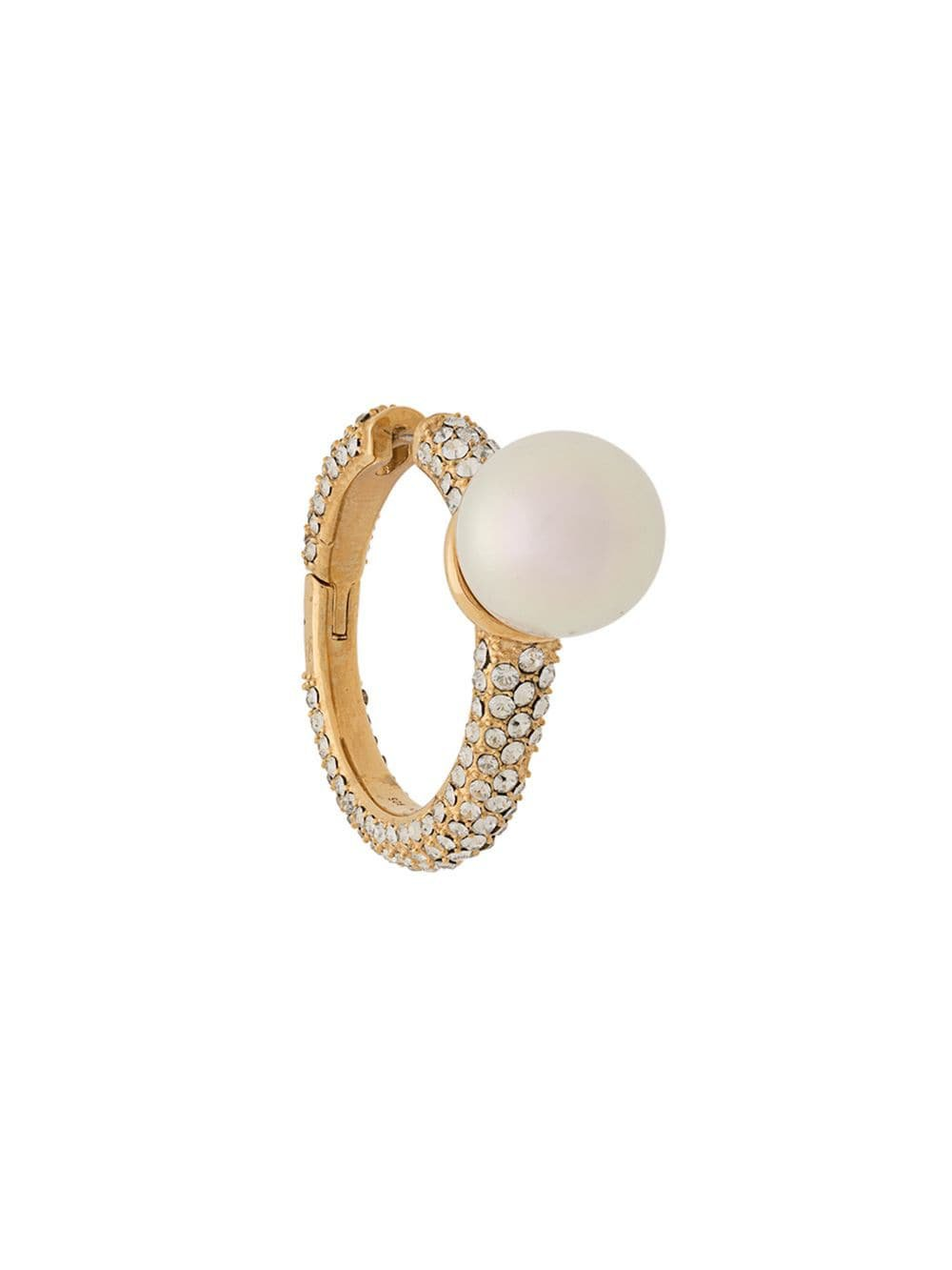 AMBUSH pearl and crystal earring