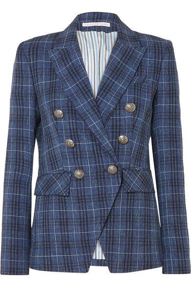Veronica Beard   Miller Dickey checked wool-blend blazer   NET-A-PORTER.COM