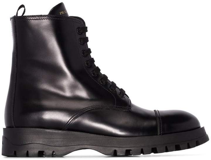 Black lace up 30 boots
