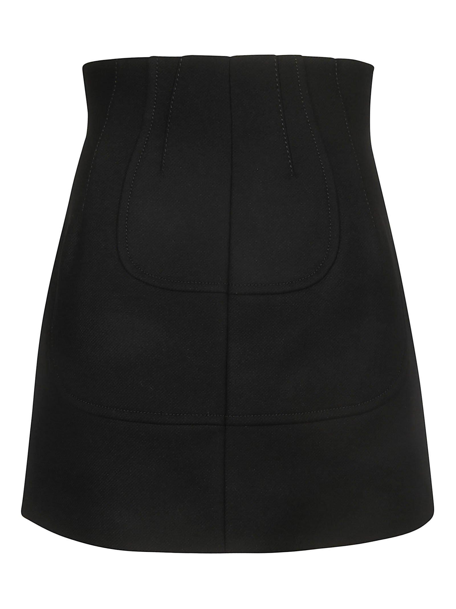 N.21 Back-zipped Mini Skirt