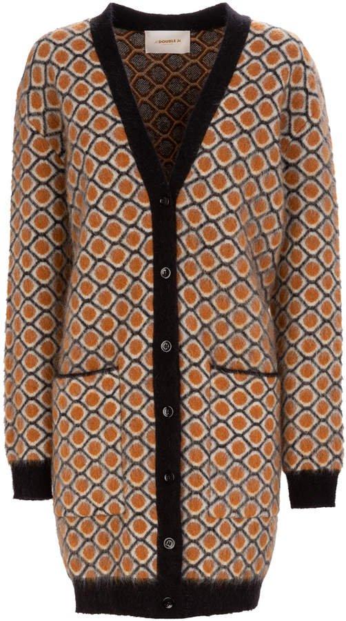 La DoubleJ Oversized Mohair-Blend Cardigan Coat
