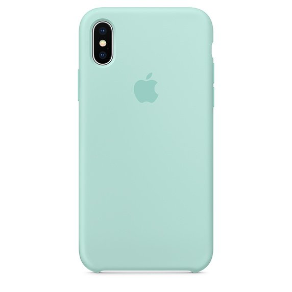 iPhone X Silicone Case - Marine Green - Apple (SG)
