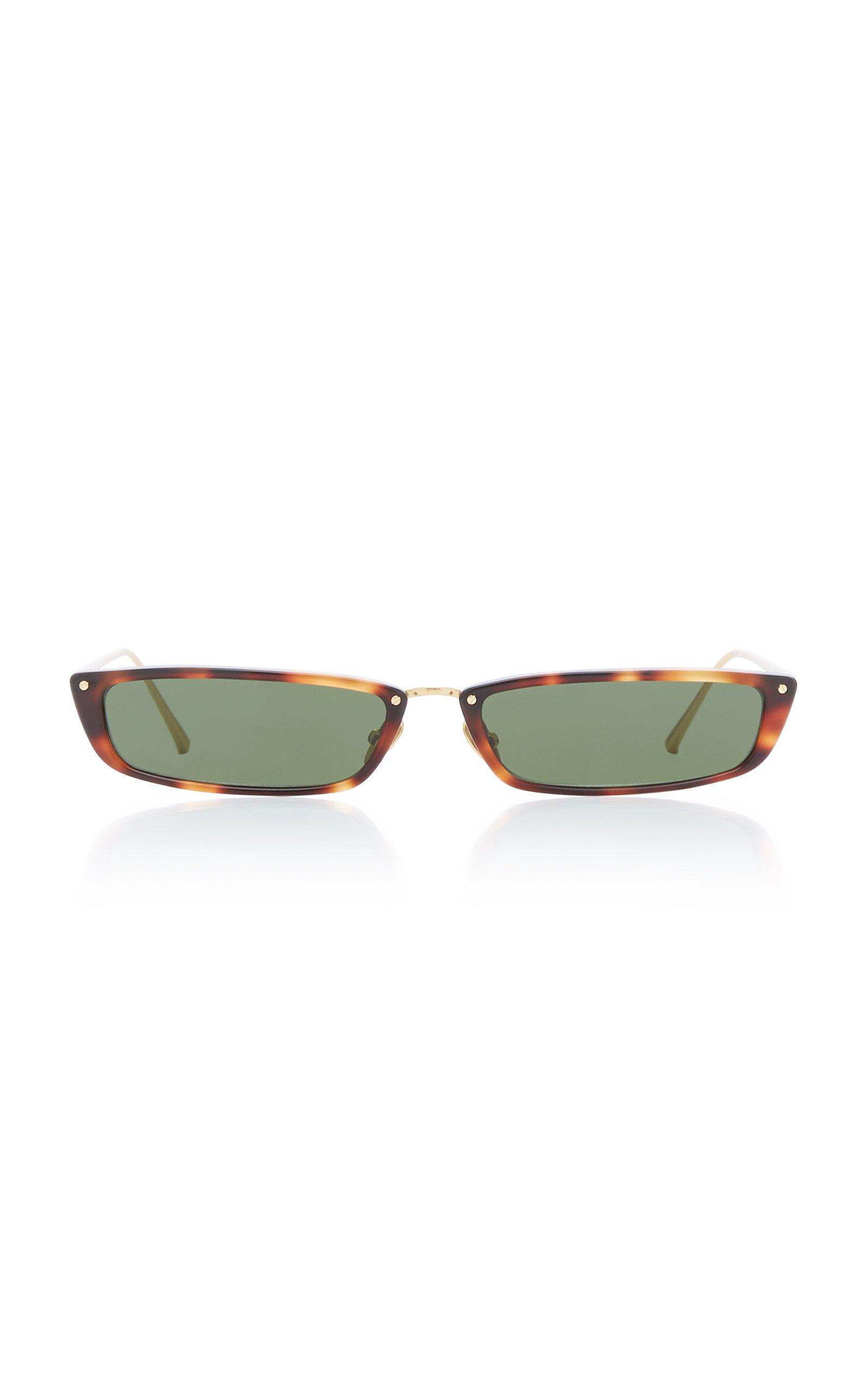 Linda Farrow Rectangle-Frame Acetate Sunglasses