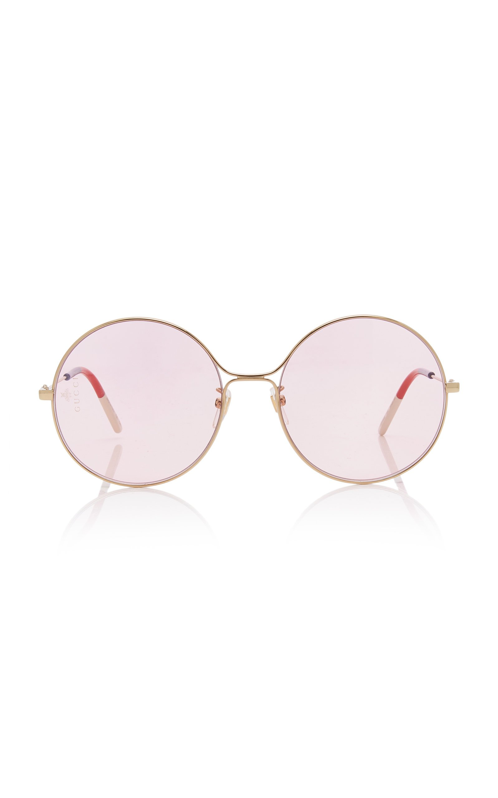 Gucci Sunglasses Glasant Oversized Metal Round Sunglasses