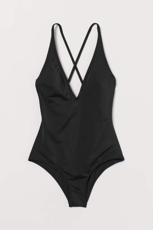 V-neck Swimsuit - Black