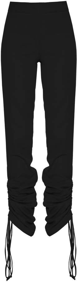 Lado Bokuchava Cinched-Hem Crepe Straight-Leg Pants Size: XS