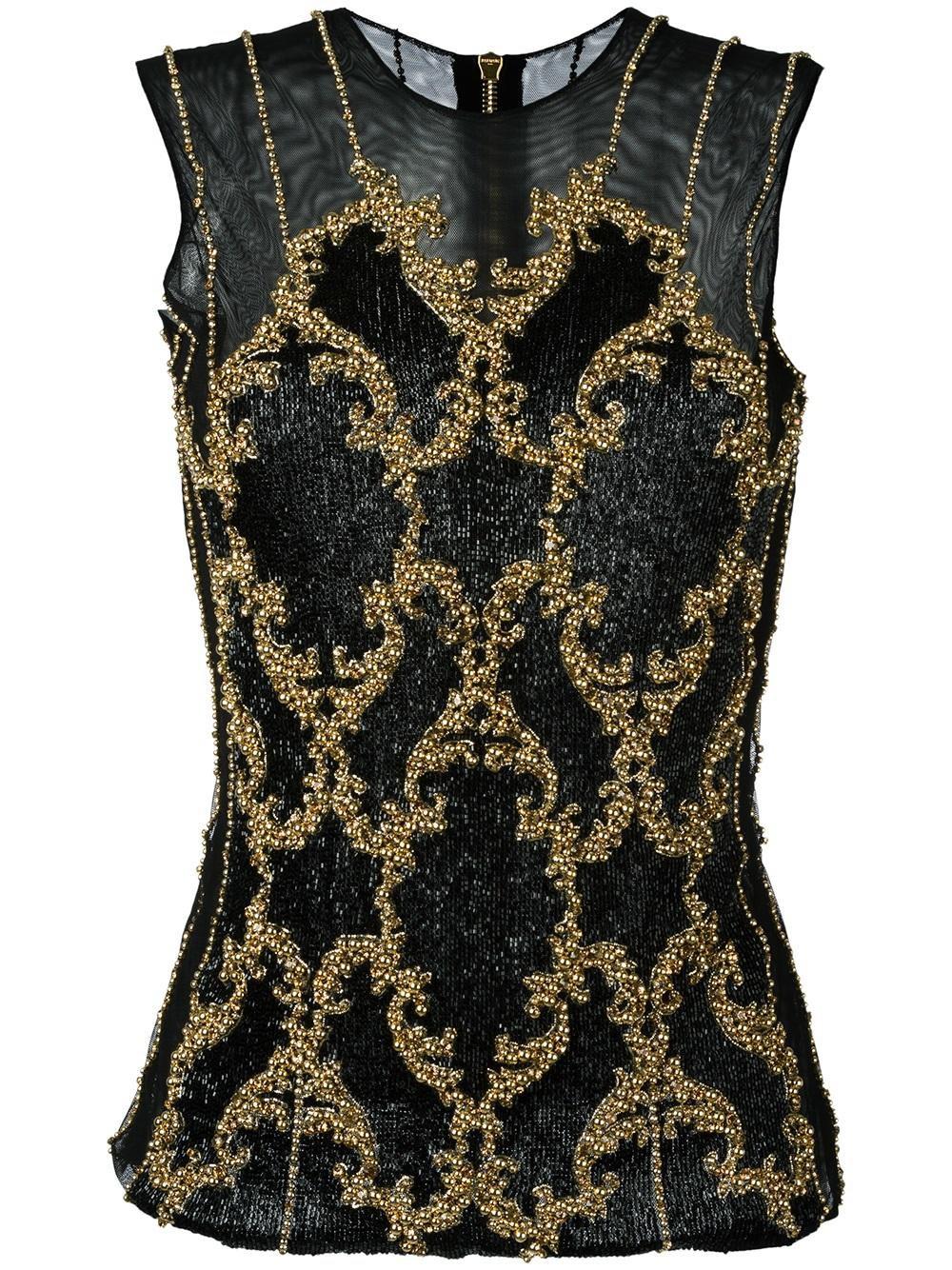 balmain shirt, Black sequin embroidered top from Balmain Women Blouses ,balmain pants on sale, balmain dress kim kardashian vmas free delivery