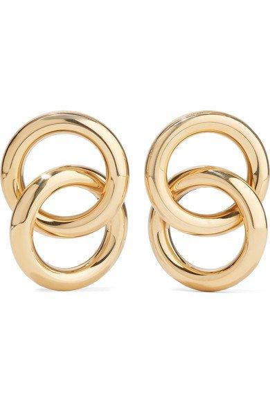 Laura Lombardi | Interlock gold-tone earrings | NET-A-PORTER.COM