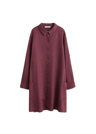 Violeta BY MANGO Flowy long shirt