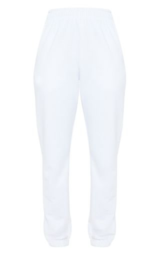 White Casual Jogger   Trousers   PrettyLittleThing