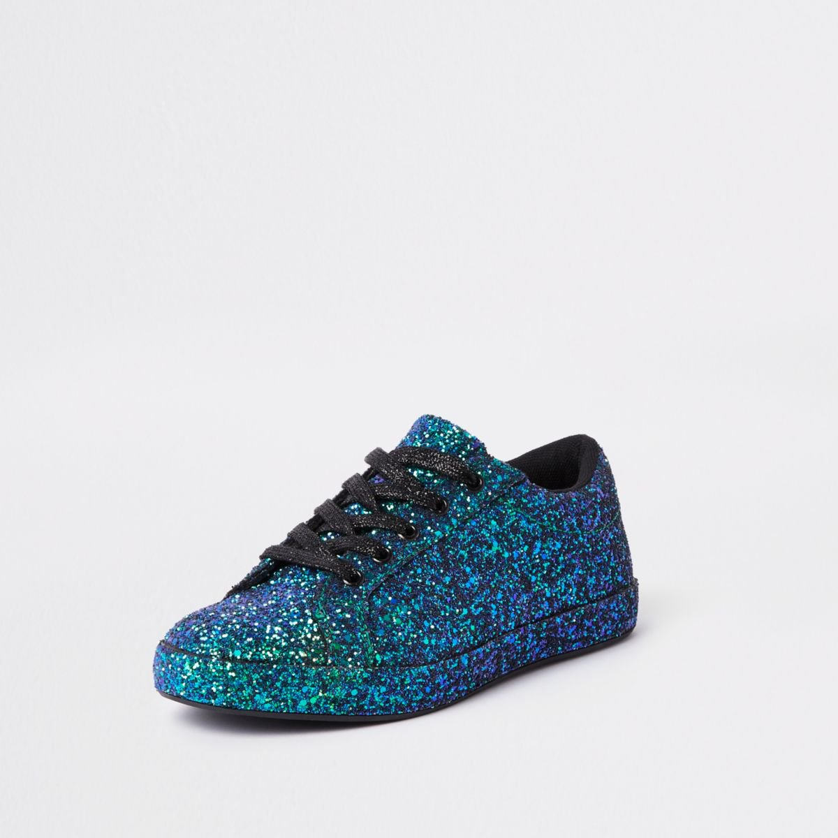 Green glitter lace up trainers - Plimsolls & Trainers - Shoes & Boots - women