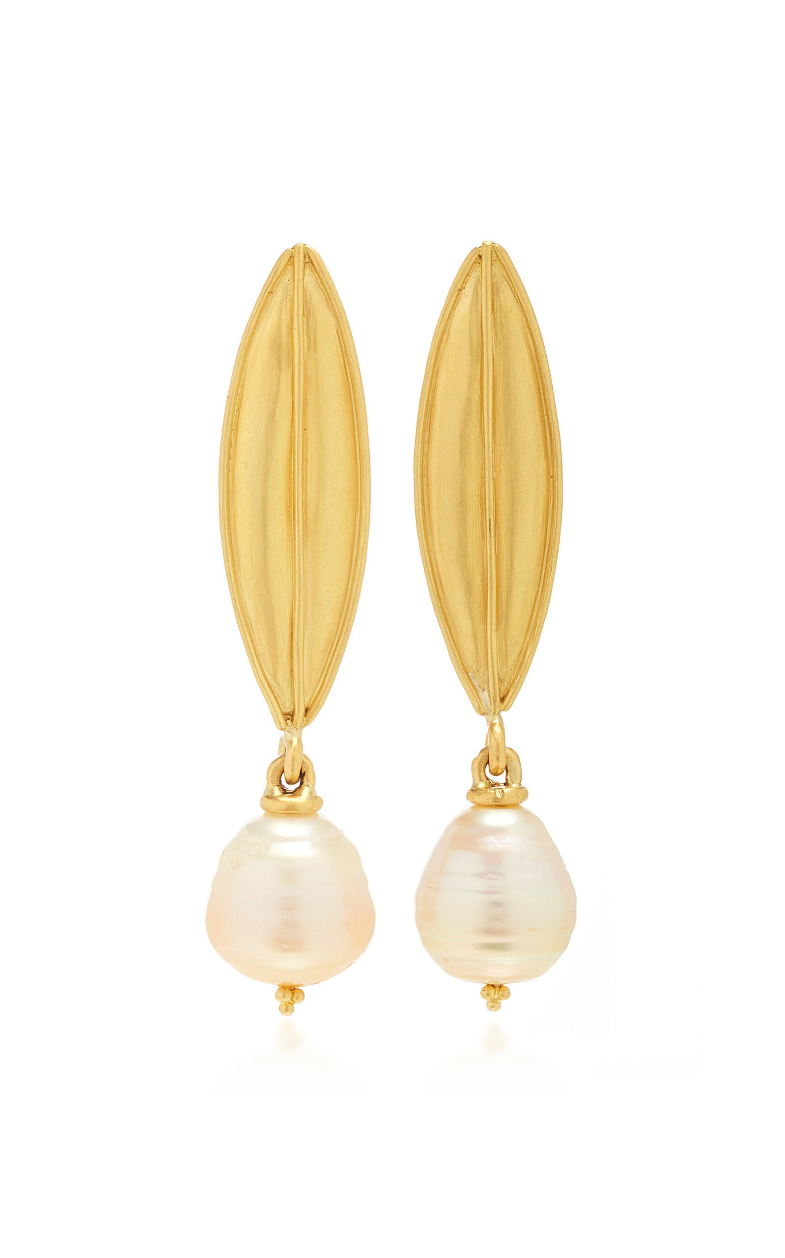 Prounis Laurel Drop Earrings with South Sea Pearl
