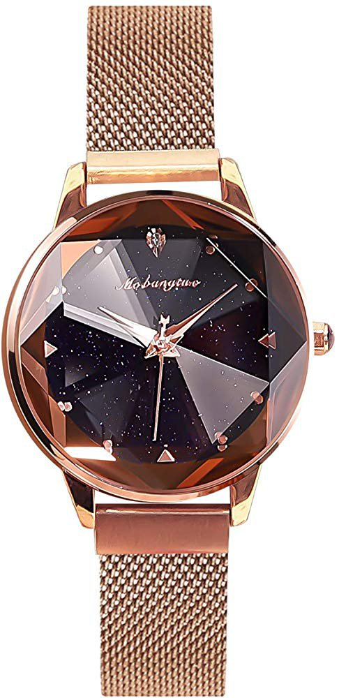 Starry Sky Dial Mesh Band Ladies Watch