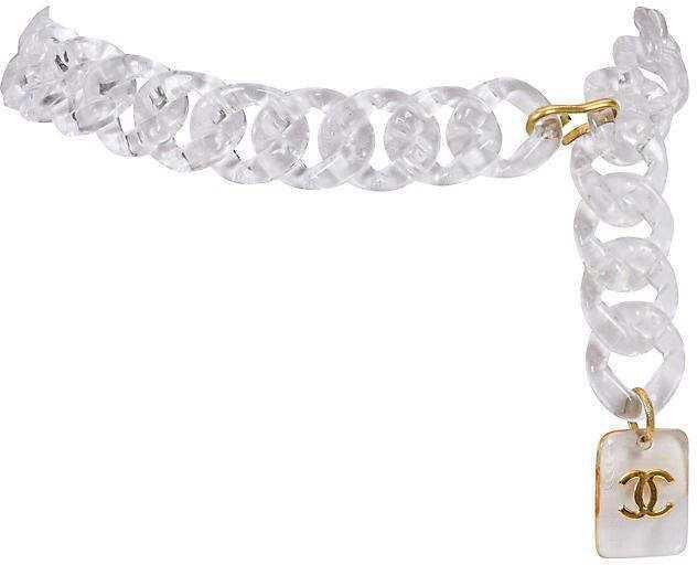 One Kings Lane Vintage Chanel Rare Lucite Belt