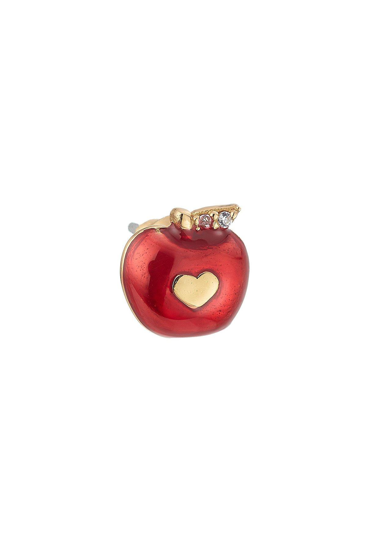 Embellished Apple Stud Gr. One Size