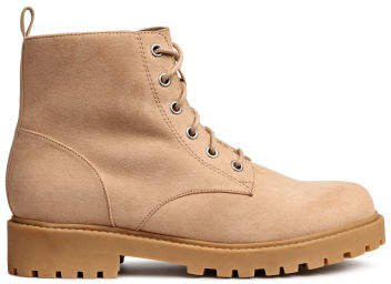 Pile-lined boots - Beige