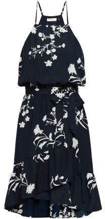 Floral-print Crepe De Chine Dress