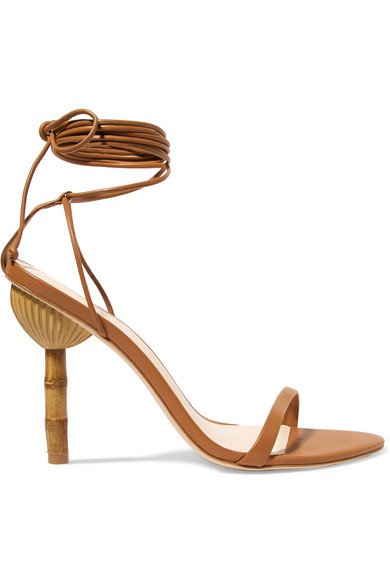Cult Gaia | Luna leather sandals | NET-A-PORTER.COM