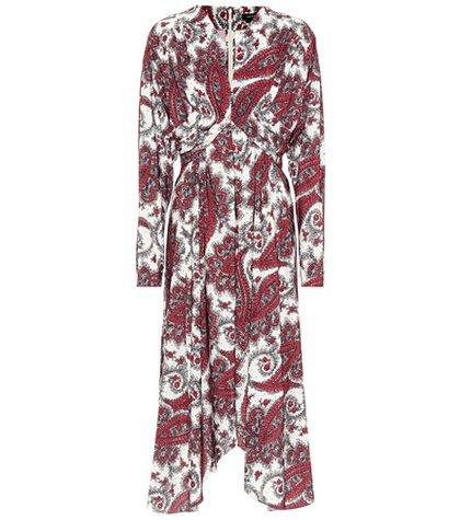 Tamara paisley-printed dress