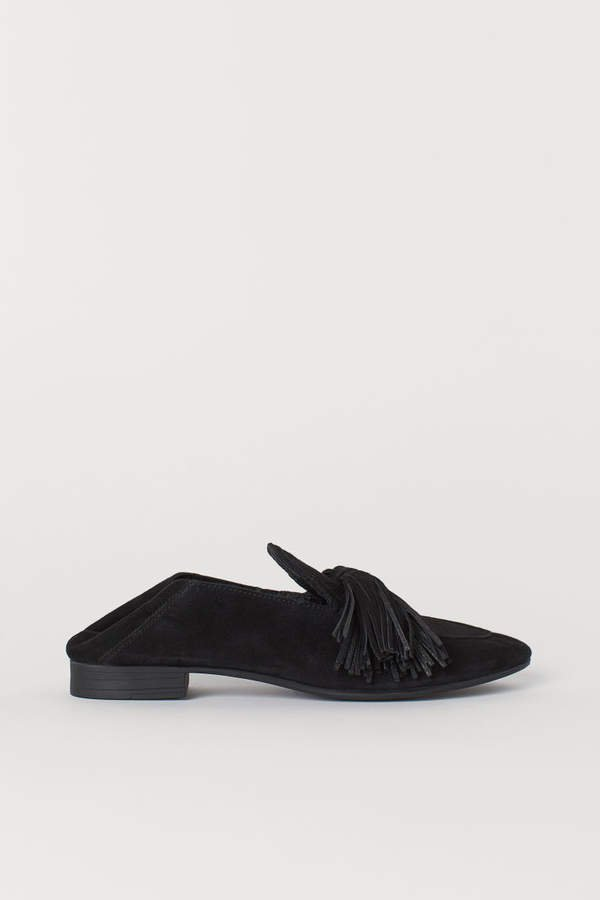 Suede Loafers - Black