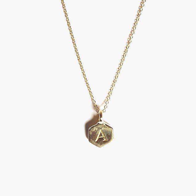 Odette New York® Hex monogram necklace : Women necklaces   J.Crew