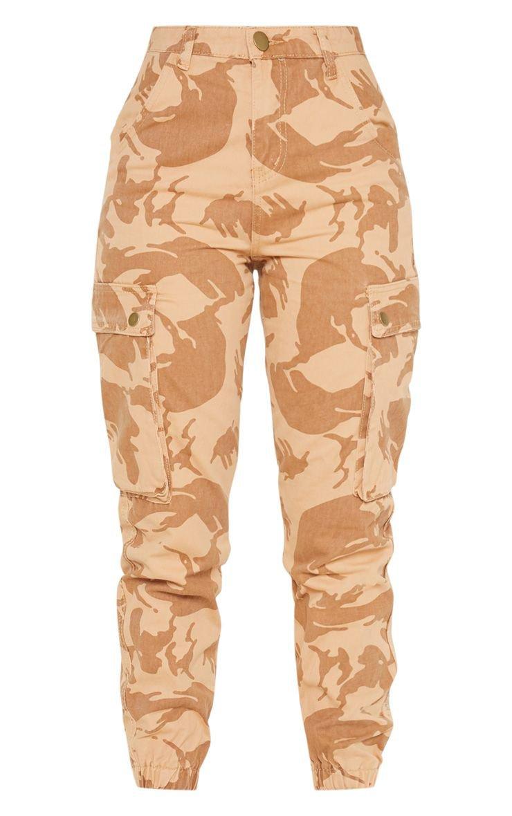 Khaki Camo Cargo Pocket Jeans | Denim | PrettyLittleThing USA