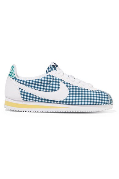 Nike | Classic Cortez gingham canvas sneakers | NET-A-PORTER.COM