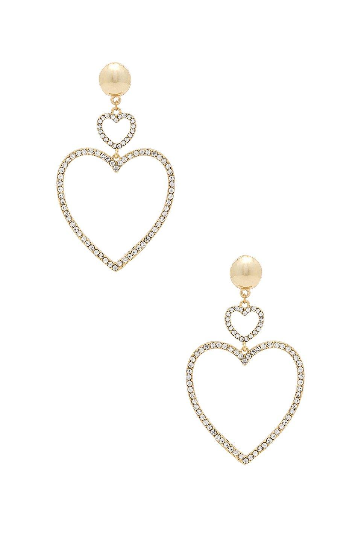 Two Hearts Drop Earrings