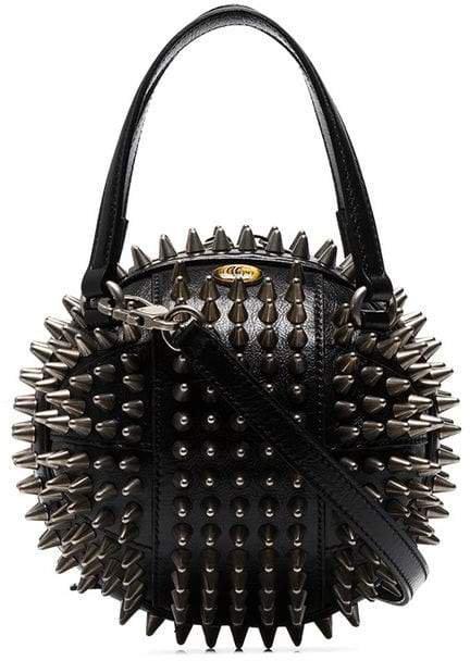 black Tifosa metal studded mini bag