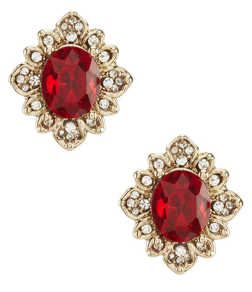Marchesa Soiree Faceted Stud Statement Earrings   Dillards