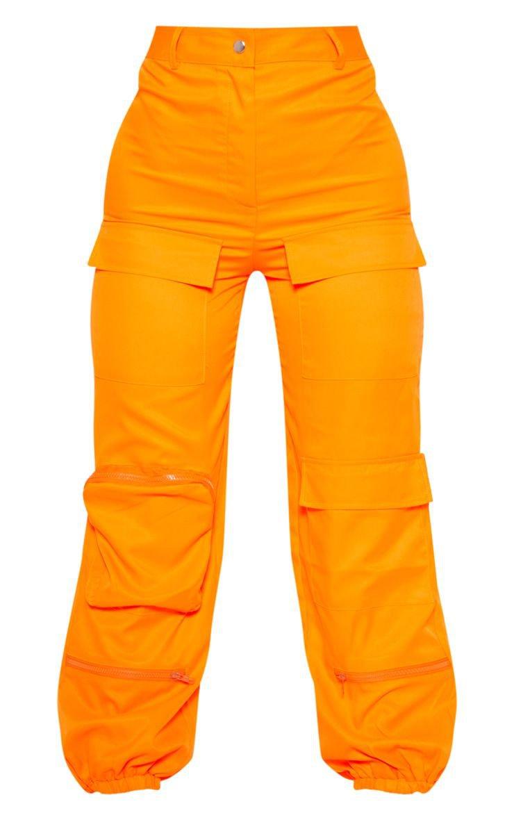 Orange 3D Pocket Cargo Trouser | Trousers | PrettyLittleThing USA
