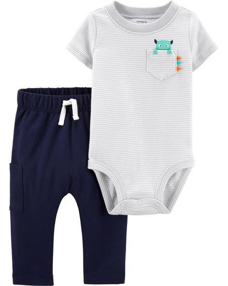 Baby Boy 2-Piece Monster Bodysuit Pant Set | Carters.com