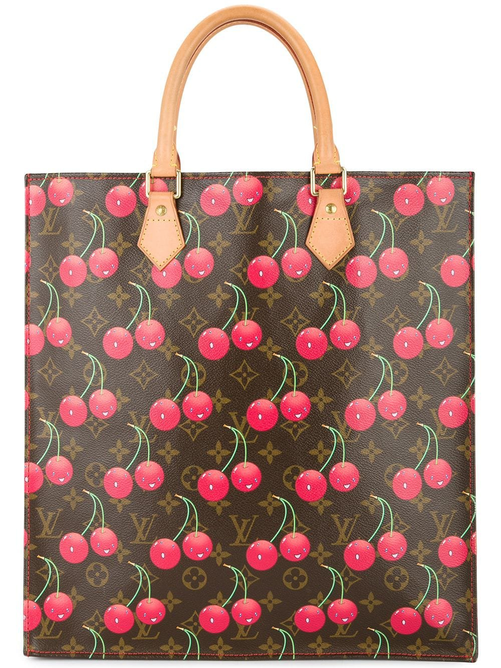 LOUIS VUITTON PRE-OWNED SAC PLAT HAND TOTE BAG MONOGRAM CHERRY CANVAS LEATHER - Farfetch