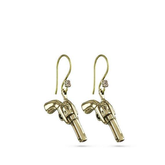Lost Apostle Bronze Pistols Earrings