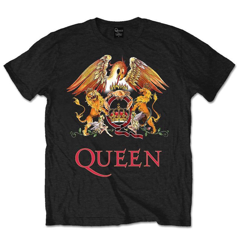 Queen Crest Logo Men's T-Shirt | NME Merch – nmemerch