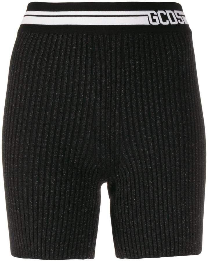 logo band knitted shorts