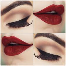 prom makeup green eyes red lips - Google Search